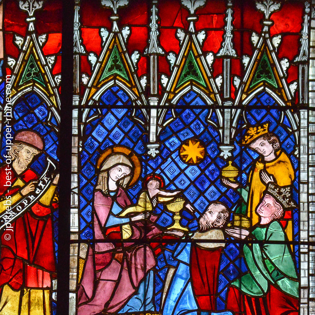 detail of medieval stained